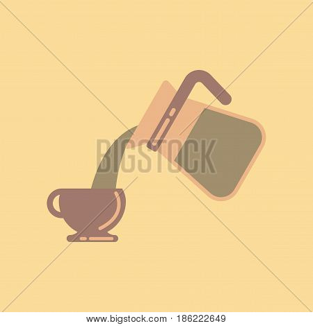 flat icon on stylish background cup Coffee Maker