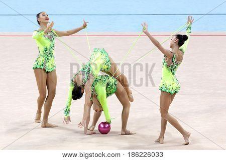 Team Uzbekistan Rhythmic Gymnastics