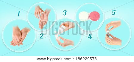 Contact lenses care instruction
