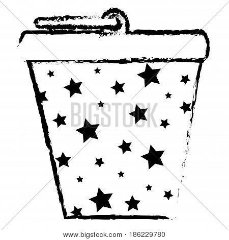 bucket pot starry isolated icon vector illustration design