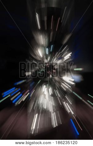 Backgrounds explosion effect of zoom blur lights desaturated