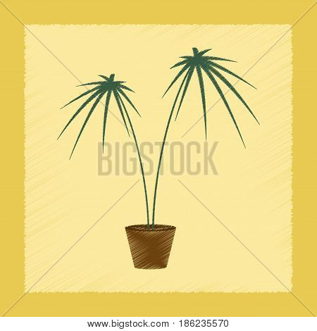 flat shading style Illustrations of plant Cyperus