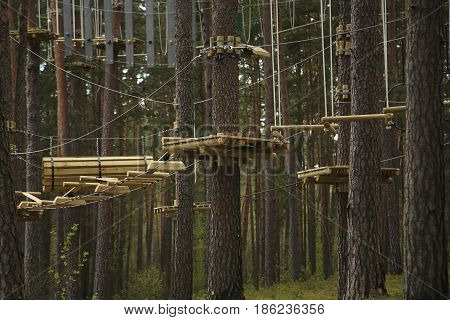 Hanging Trails In The Adventure Park