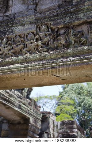 Overhead detail in Preah Khan Temple Cambodia.