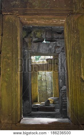 Some doorway openings in Preah Khan Temple.