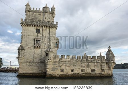 Belem Tower or the Tower of Saint Vincent is a fortified tower located in Lisbon Portugal