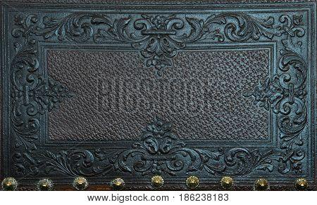 pressed leather sculpture furniture vintage decoration background