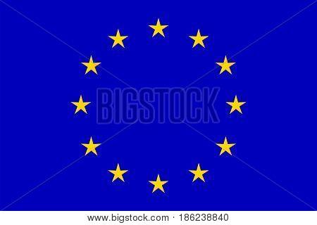 European Union flag, vector. National symbol illustration