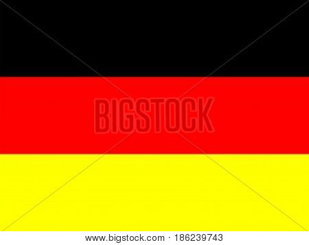 Official national flag of Germany. National symbol illustration