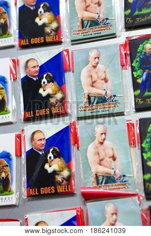 Vladimir Putin - Souvenirs In St Petersburg