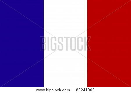 Official national flag of France National symbol illustration