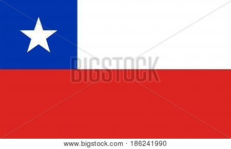 Flag of Chile, vector illustration National symbol