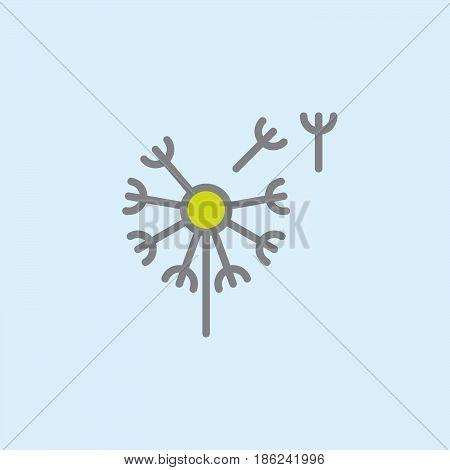 Вandelion taraxacum filled outline icon line vector sign linear colorful pictogram. Blowbal symbol logo illustration. Pixel perfect