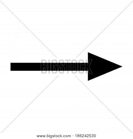 black arrow isolated on white background. vector arrow