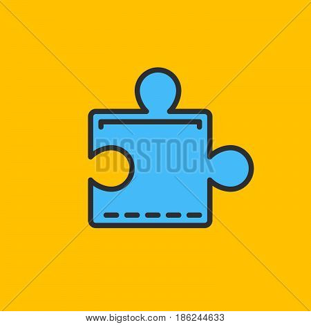 Puzzle plugin filled outline icon line vector sign linear colorful pictogram. Symbol logo illustration. Pixel perfect