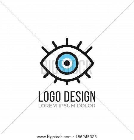 Eye logo design concept. Eye icon. Vector logo isolated on white background