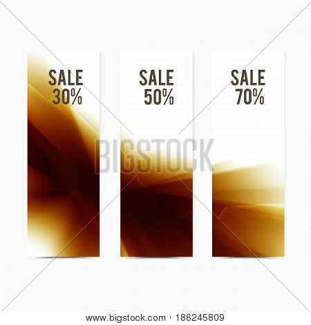 Vector banner yellow smooth blurry texture background. Abstract shining element