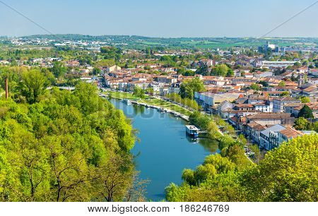 The Charente River at Angouleme, the Charente department of France