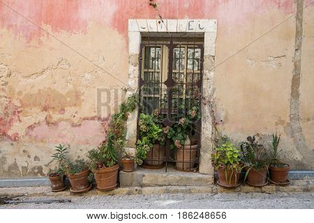 Classic french doorway in Provence, Southern France