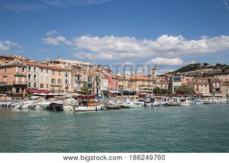 View of Cassis on the French Riviera
