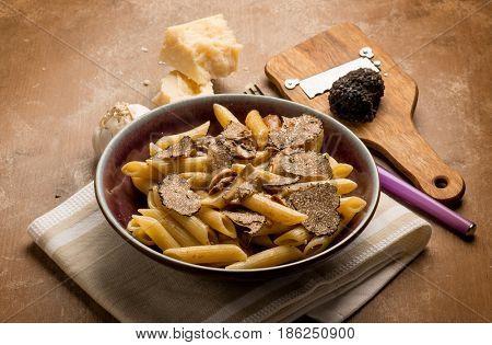 pasta with truffle and boletus mushroom