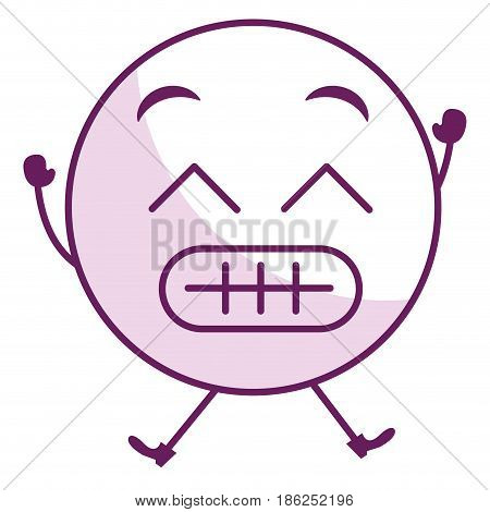 sorry face emoticon kawaii character vector illustration design
