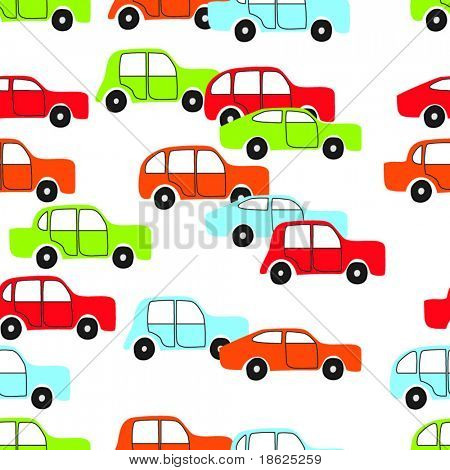 Kid drawing - seamless car background