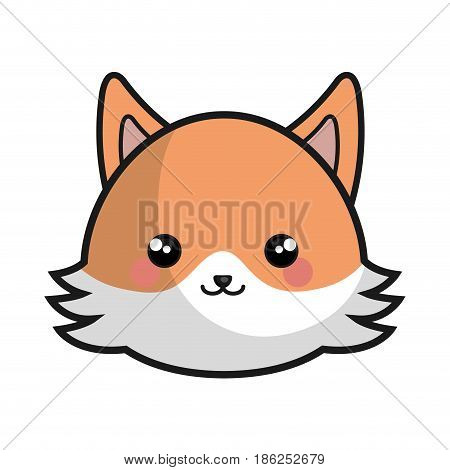 cute and tender fox kawaii style vector illustration design