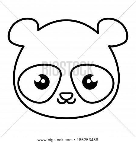 cute and tender bear panda kawaii style vector illustration design