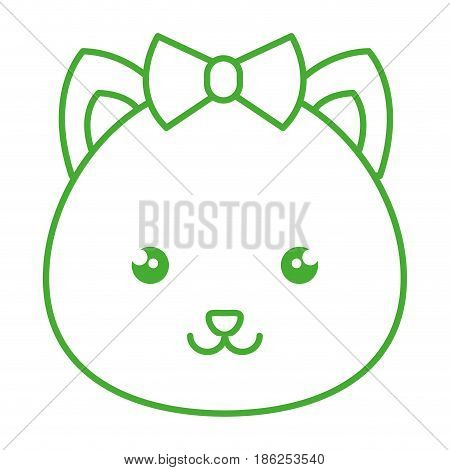 cute and tender female hamster kawaii style vector illustration design