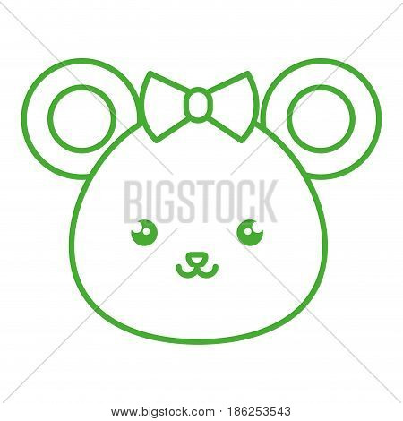 cute and tender female mouse kawaii style vector illustration design