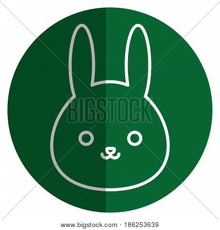 cute and tender rabbit kawaii style vector illustration design