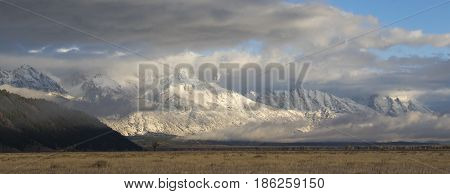 Blacktail Butte Toward Tetons With Antelope Sagebrush Flats