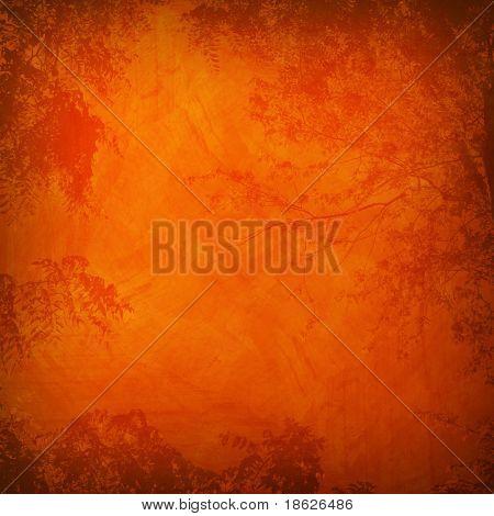 Orange Foliage Background