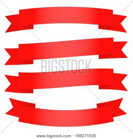 A set of the ribbons. Vector illustration.