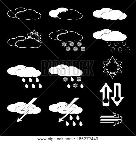 Vector illustration set of weather the icons.