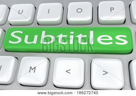 Subtitles - Communication Concept