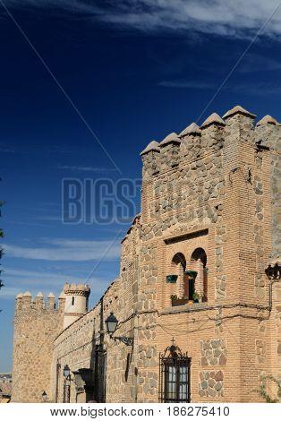 muralla árabe de la ciudad de Toledo en España