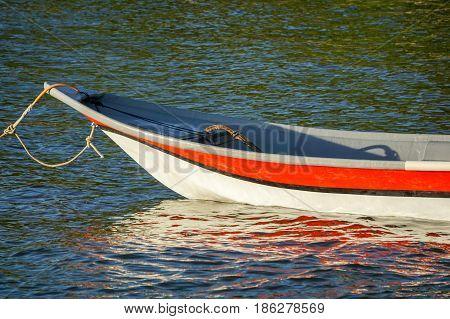 Traditional fishing boat in Tanjung Aru village,Labuan island,Malaysia.
