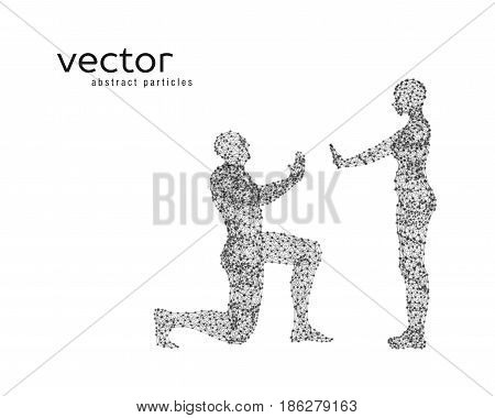 Vector Illustration Of Couple On White Background.