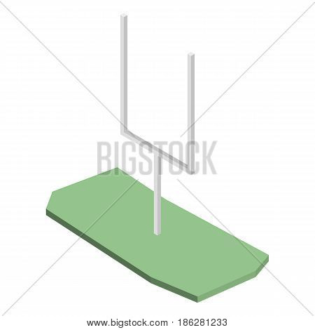 Gate for playing american football isolated on white background. Design elements of sports equipment and playgrounds. Flat 3d isometric style vector illustration.