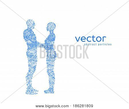 Abstract vector illustration of couple hugging each other.