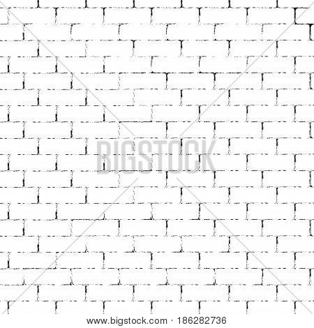 White brick wall with black grunge lines