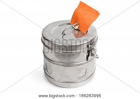 Steam sterilizer isolated on a white background