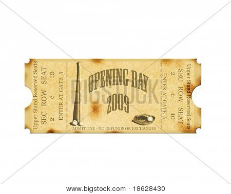 Grunge Opening Day 2009 Baseball Ticket