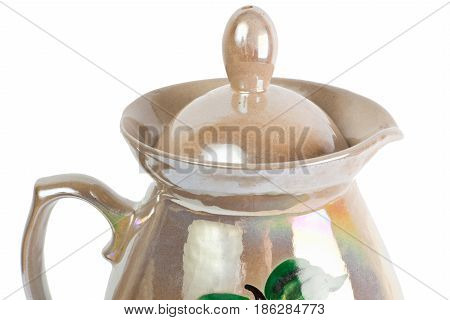 Close up top of jug isolated on the white background