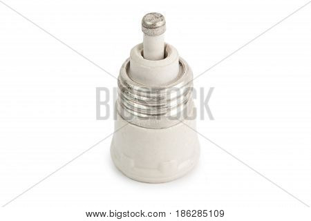 The fuse isolated on a white background