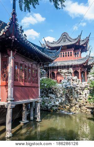 Yu Garden in Shanghai city from China