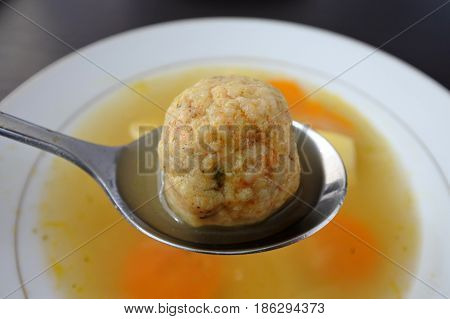 One Passover Jewish Soup Dumpling