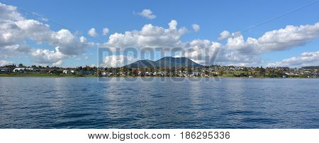Panoramic Landscape View Of Taupo Town